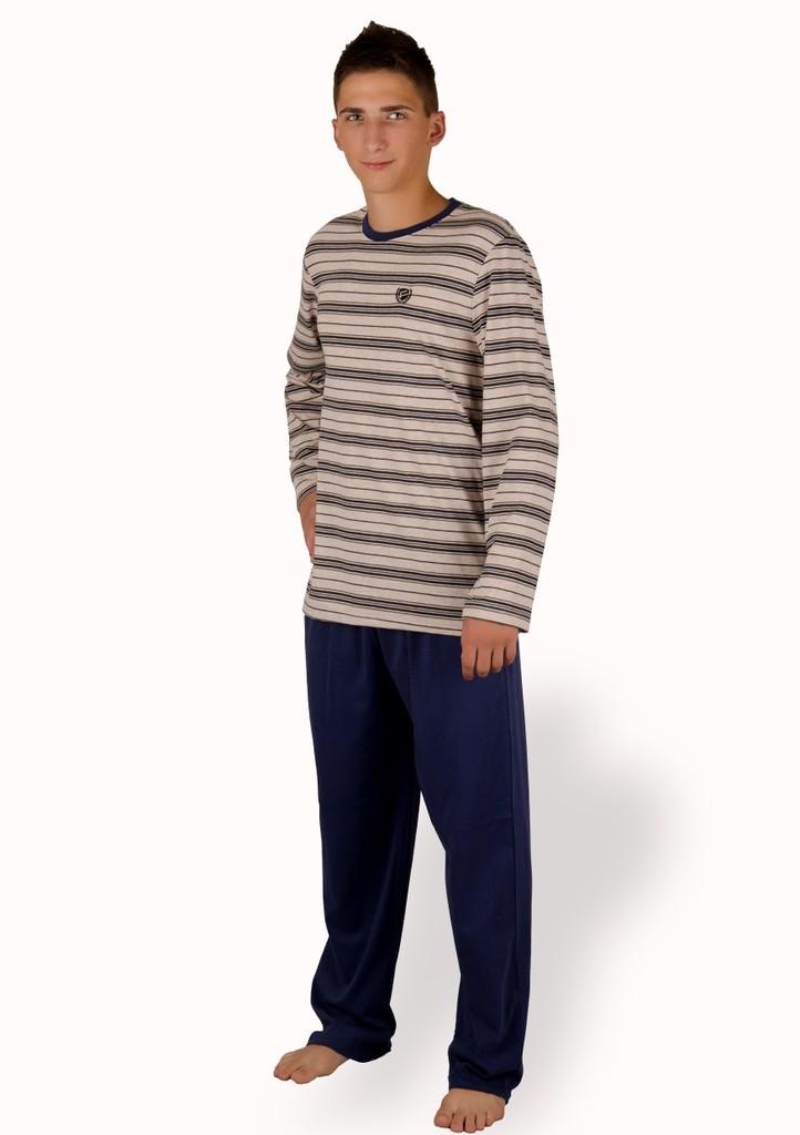 Pánské pyžamo se vzorem jemného proužku
