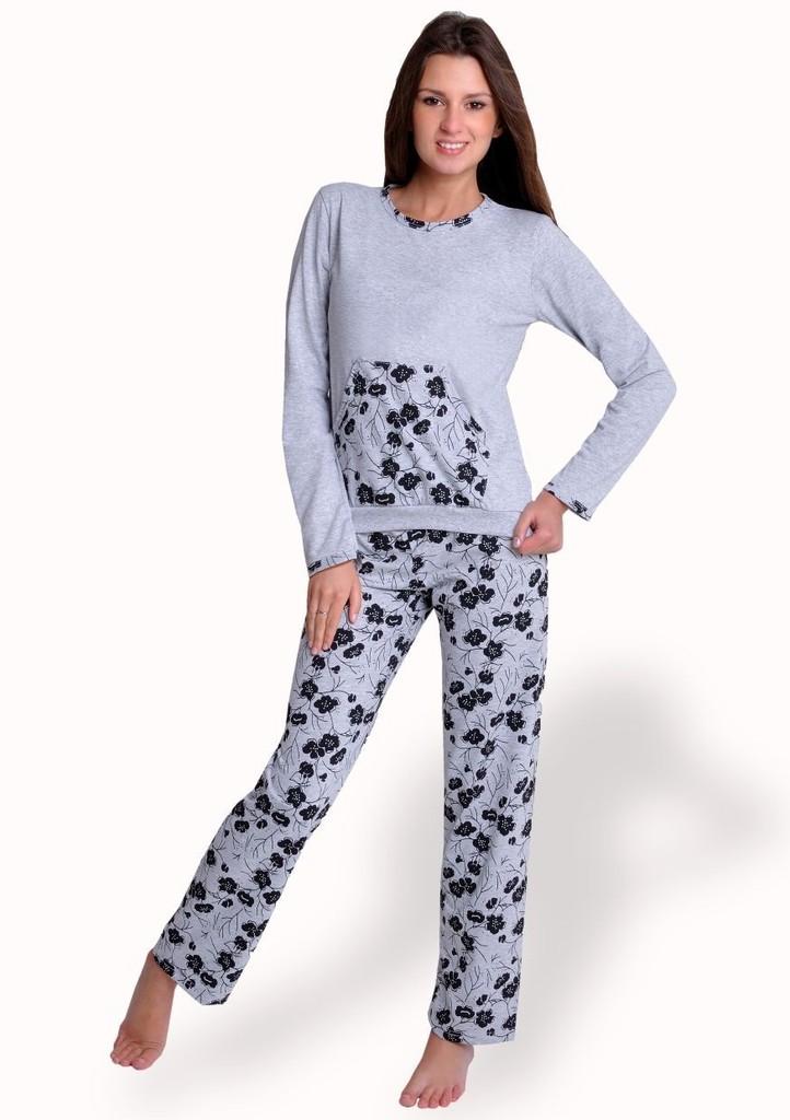 Dámské pyžamo s klokaní kapsou