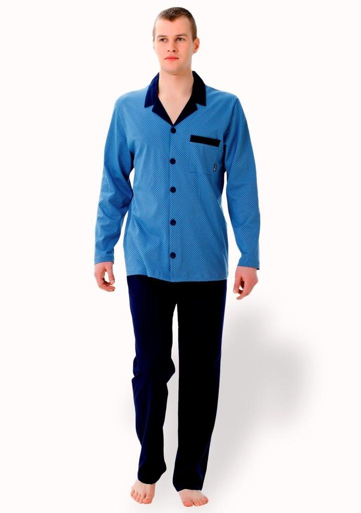 Pánské propínací pyžamo s kapsičkou