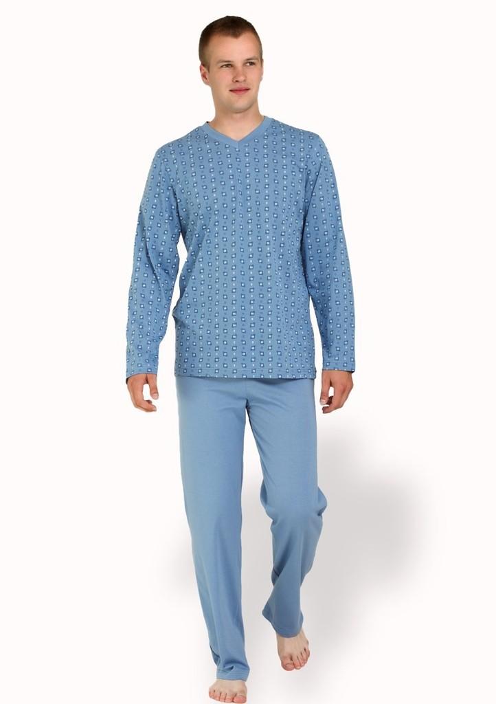 Pánské pyžamo se vzorem jemné kostky