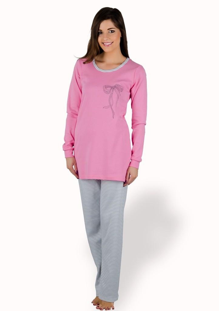 Dámské pyžamo s kalhotami se vzorem proužku