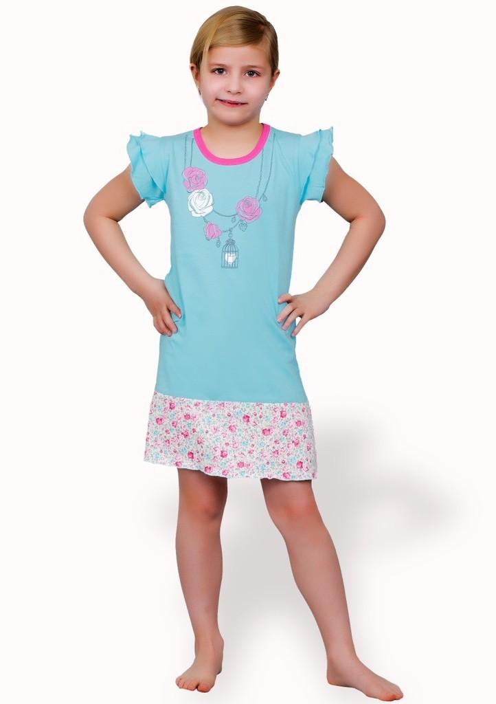 Dětská noční košile s obrázkem náhrdelníku