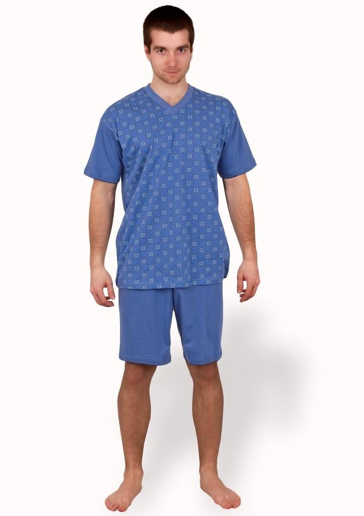 Pánské pyžamo s jemným vzorem a kraťasy
