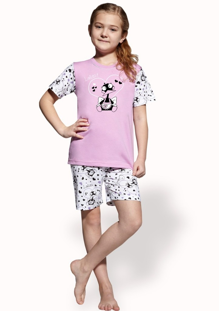 Dětské pyžamo s obrázkem kachničky a kraťasy
