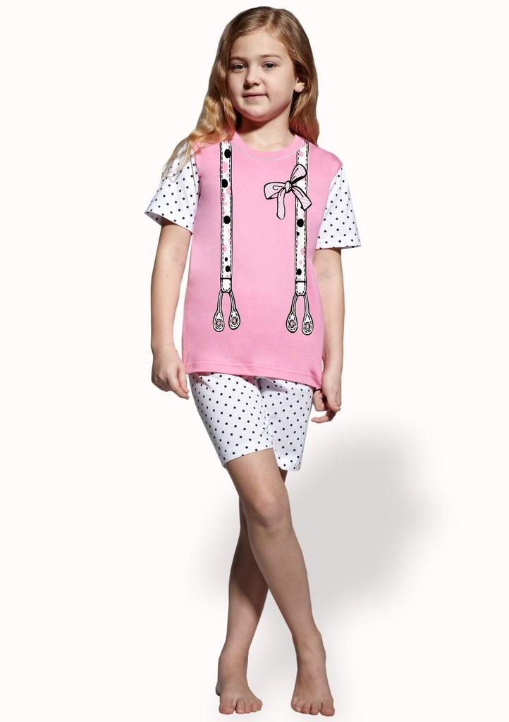 Dětské pyžamo s obrázkem šlí a kraťasy