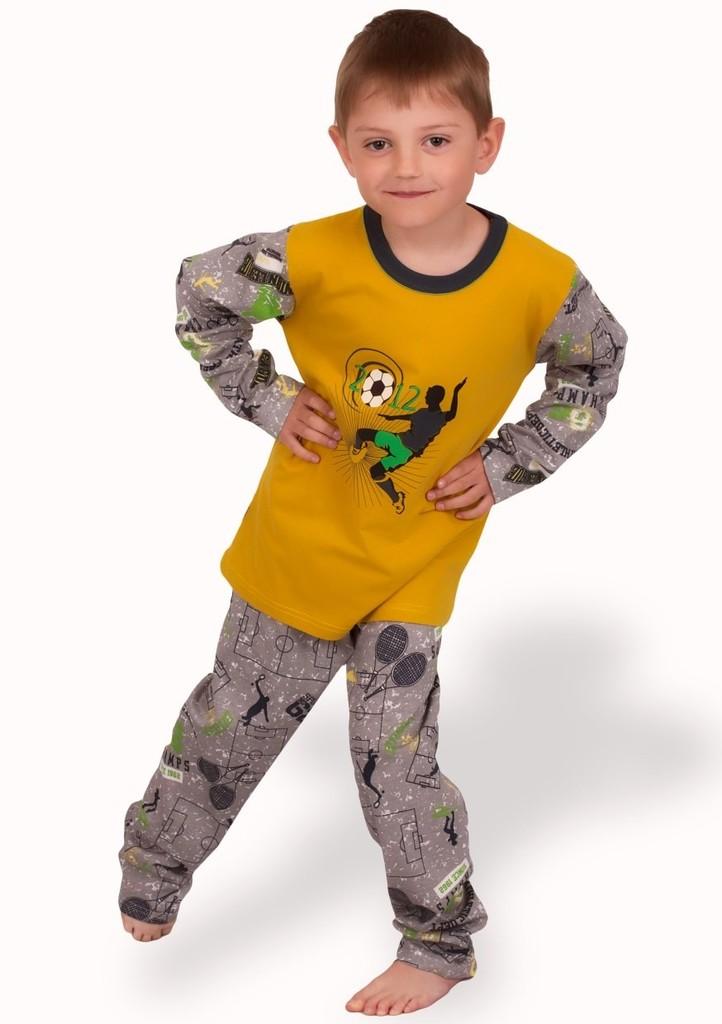 Dětské pyžamo s obrázkem fotbalu