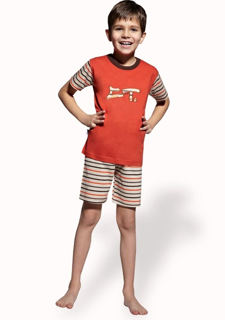 Dětské pyžamo s kraťasy se vzorem pruhu