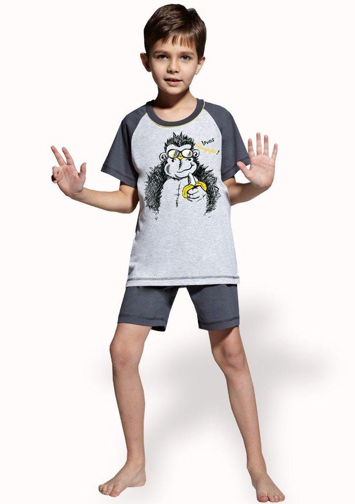 Dětské pyžamo s obrázkem opice a kraťasy