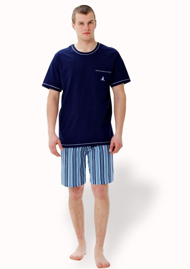 Pánské pyžamo s kraťasy se vzorem proužku