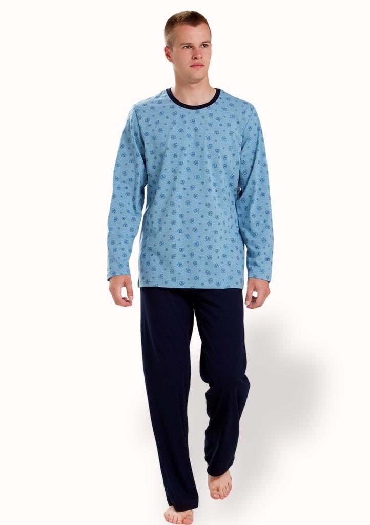 Pánské pyžamo se vzorem malé kostky