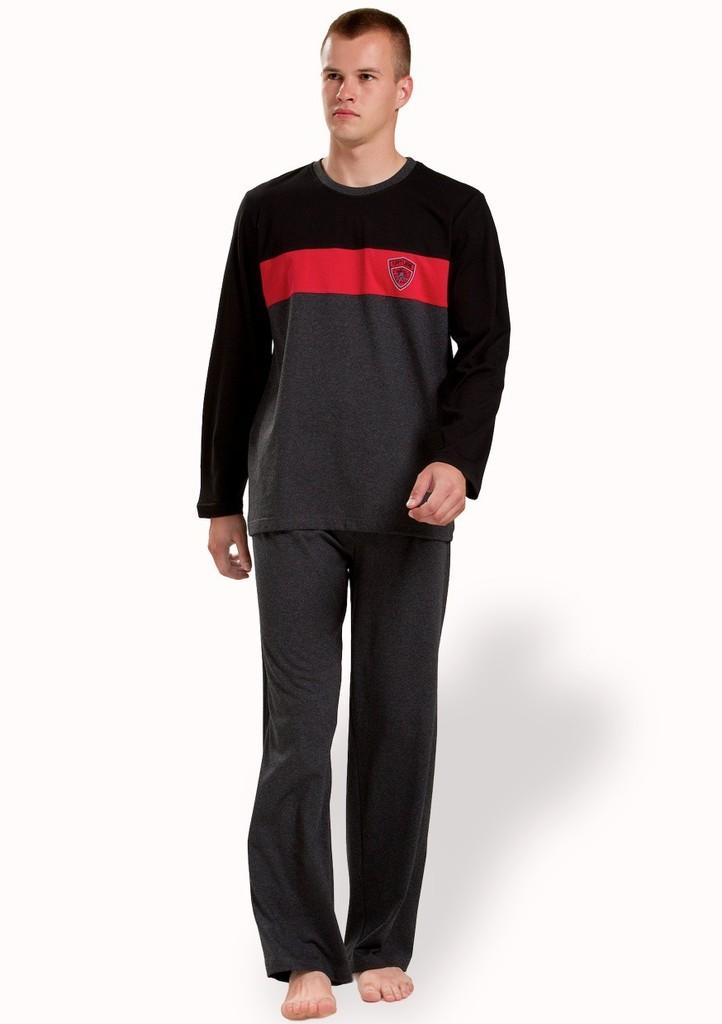 Pánské pyžamo s barevným pruhem