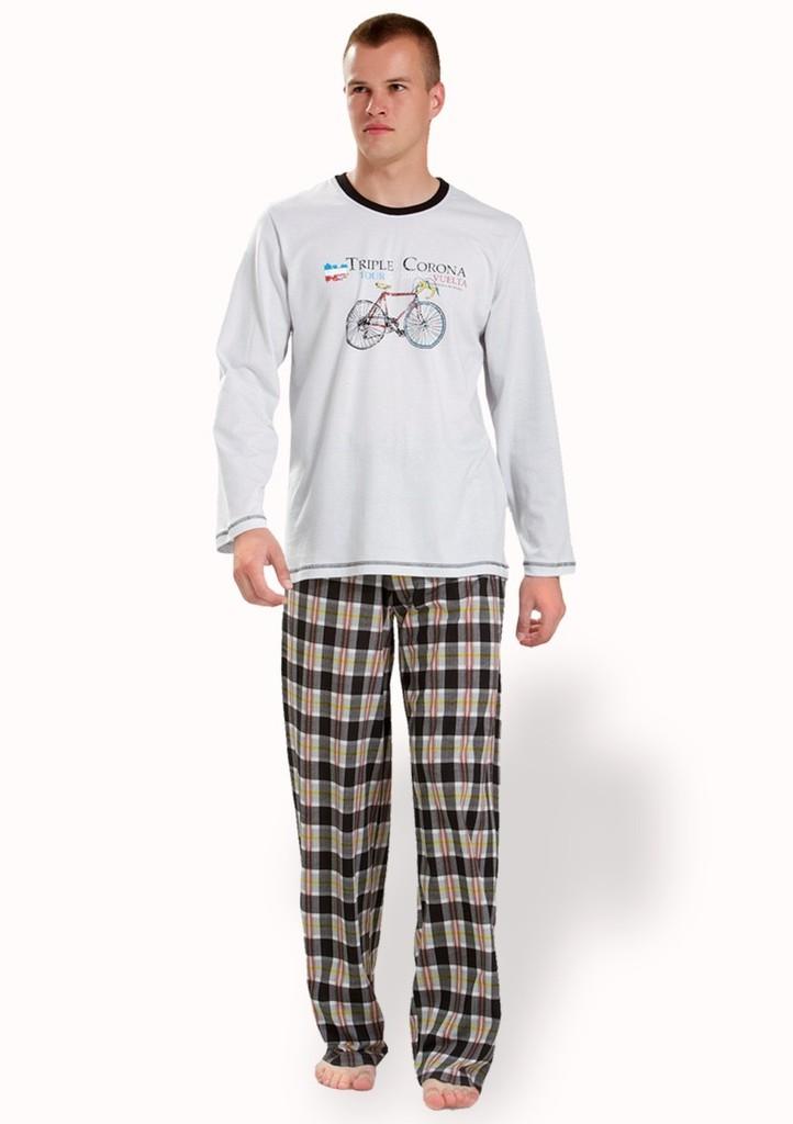 Pánské pyžamo s obrázkem jízdního kola
