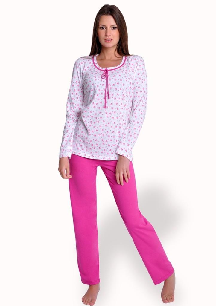 Dámské pyžamo se vzorem drobných květů