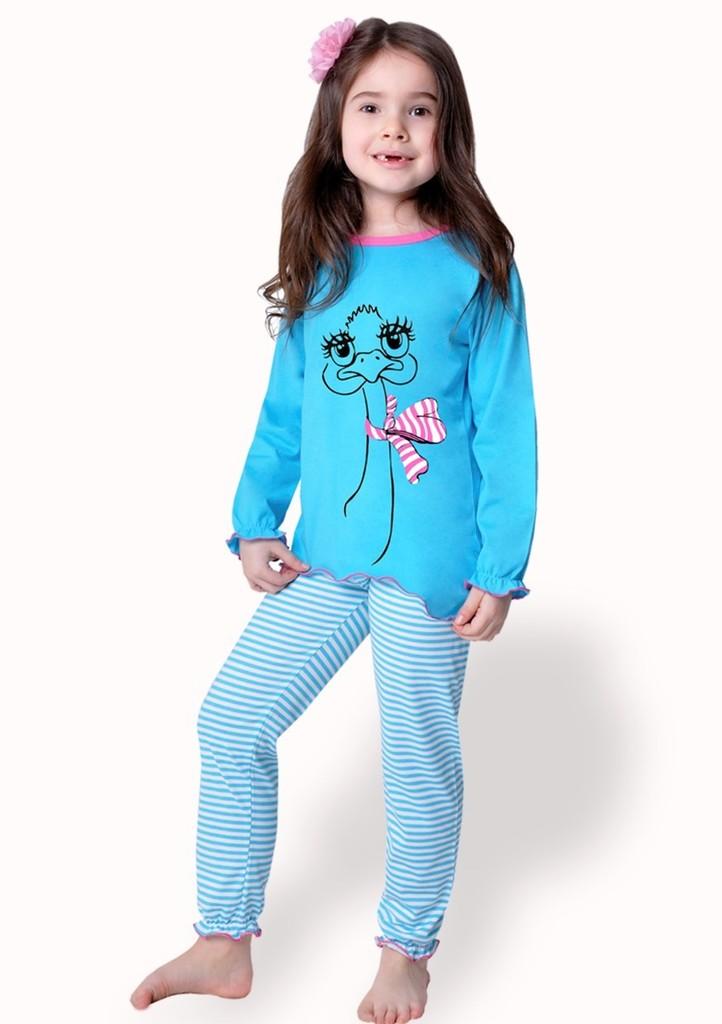 Dětské pyžamo s obrázkem pštrosa