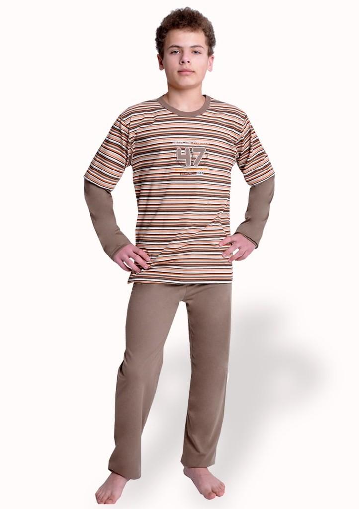Chlapecké pyžamo vzor pruh