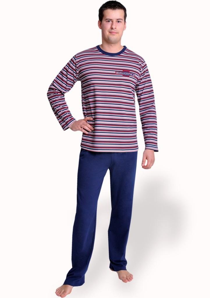 Pánské pyžamo se vzorem barevného proužku
