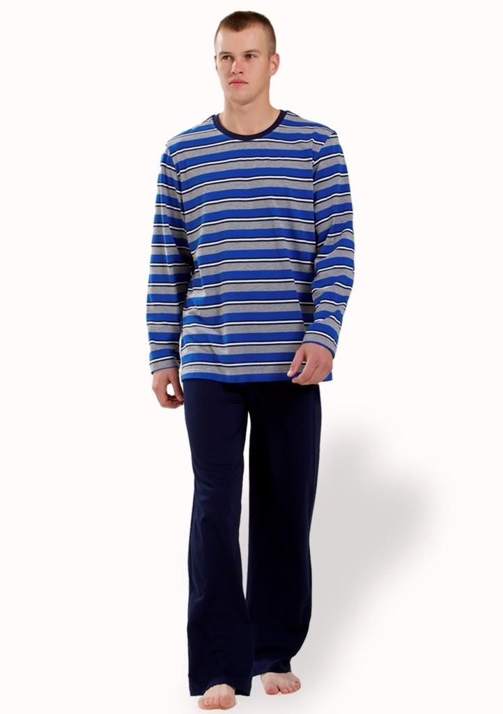 Pánské pyžamo se vzorem proužku
