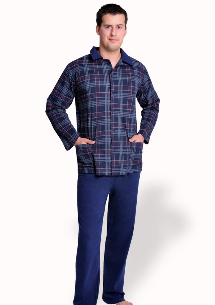 Pánské pyžamo se vzorem kostky