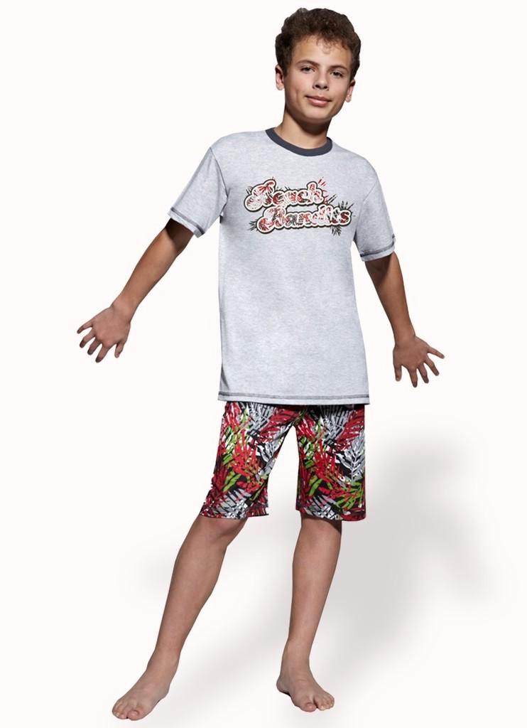 Chlapecké pyžamo s nápisem Beach Bandits a kraťasy