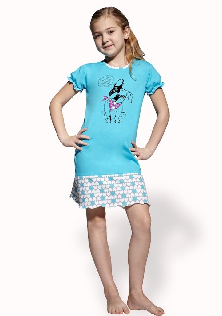 Dívčí noční košile s obrázkem psa