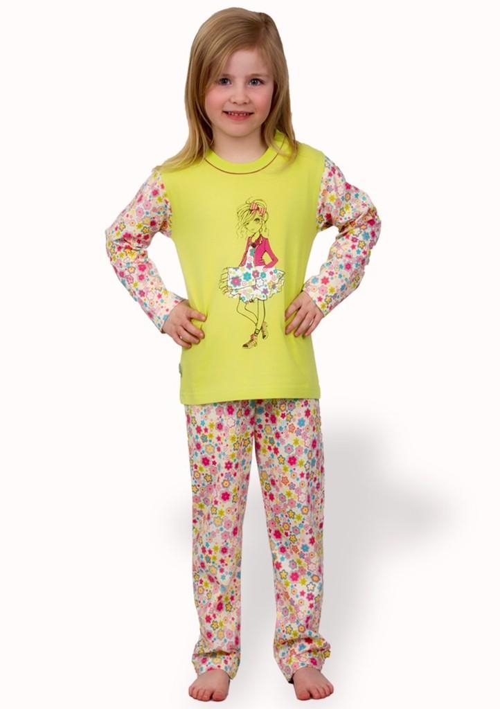Dětské pyžamo s obrázkem dívky