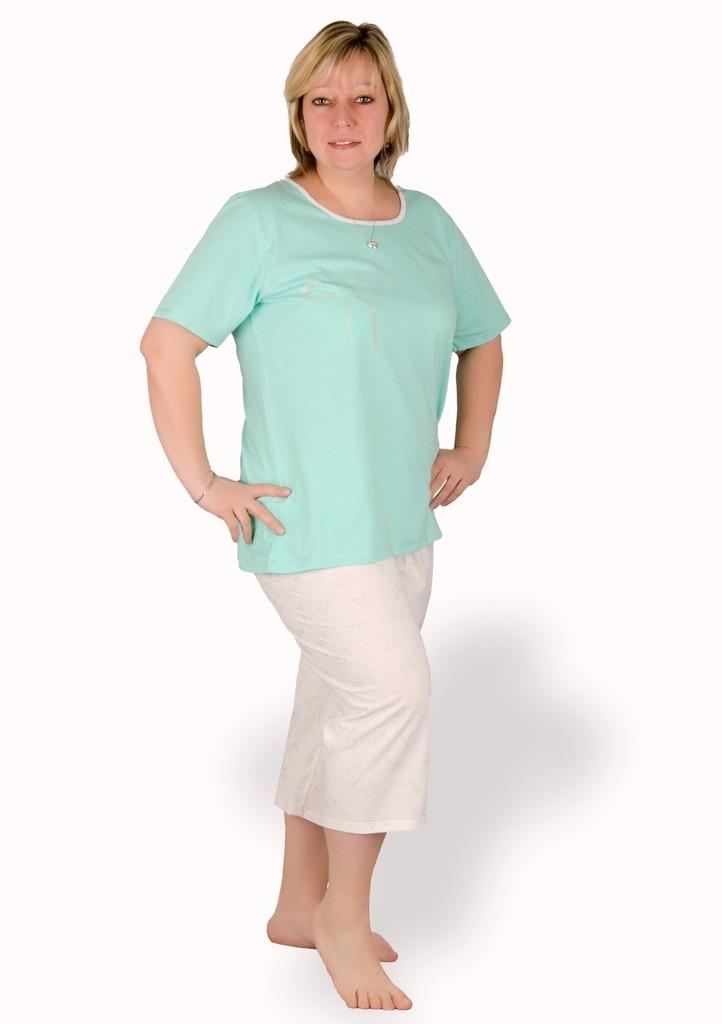 Dámské pyžamo nadměrné velikosti vzor mašle
