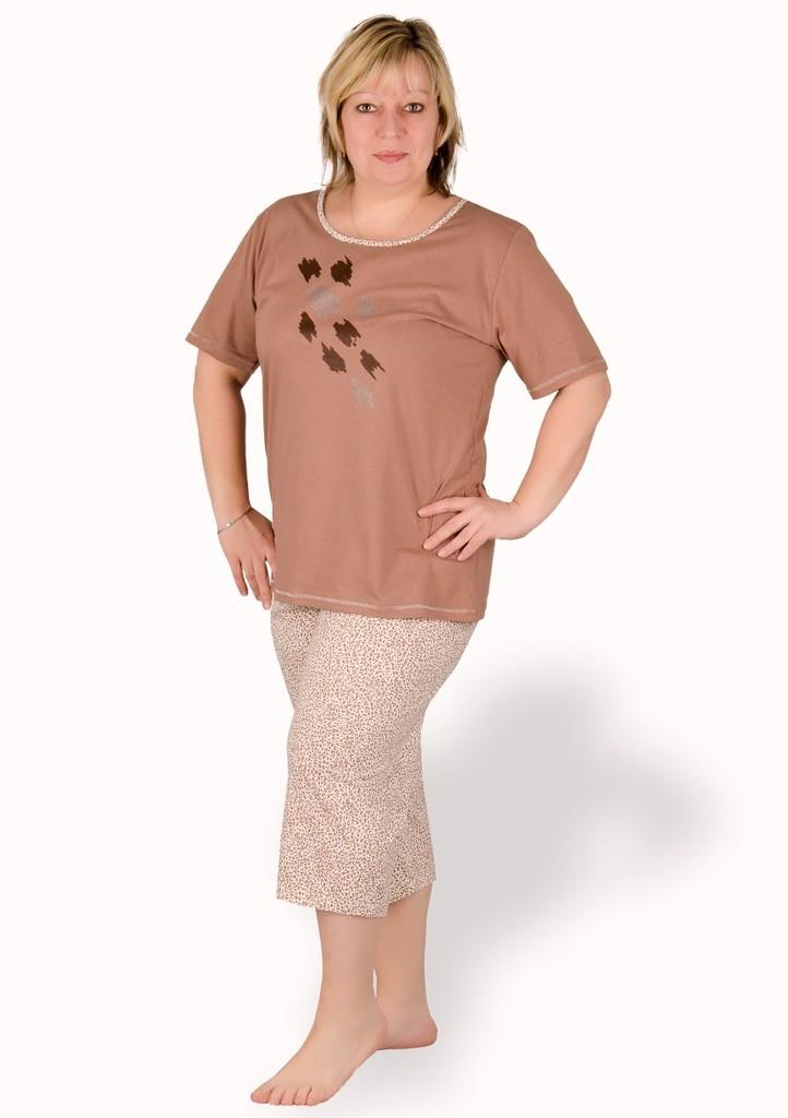 Dámské pyžamo nadměrné velikosti vzor gepard