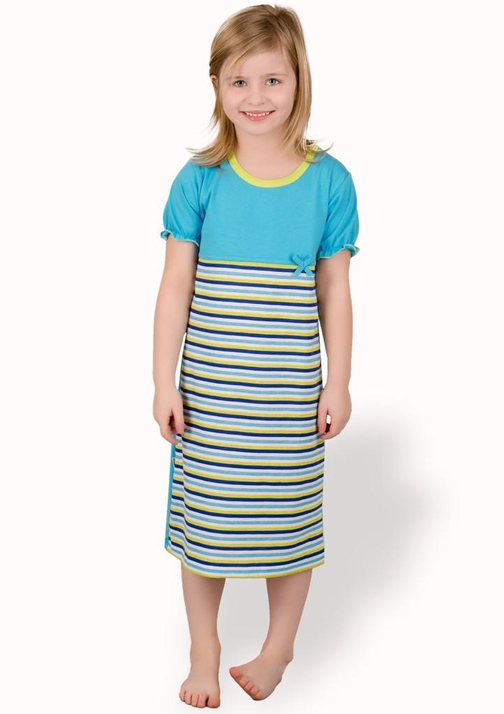 Dětská noční košile se vzorem proužků
