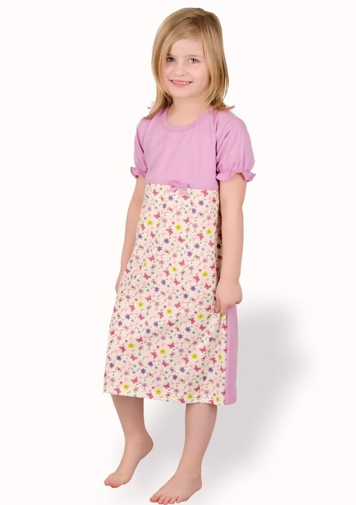 Dětská noční košile se vzorem kytiček