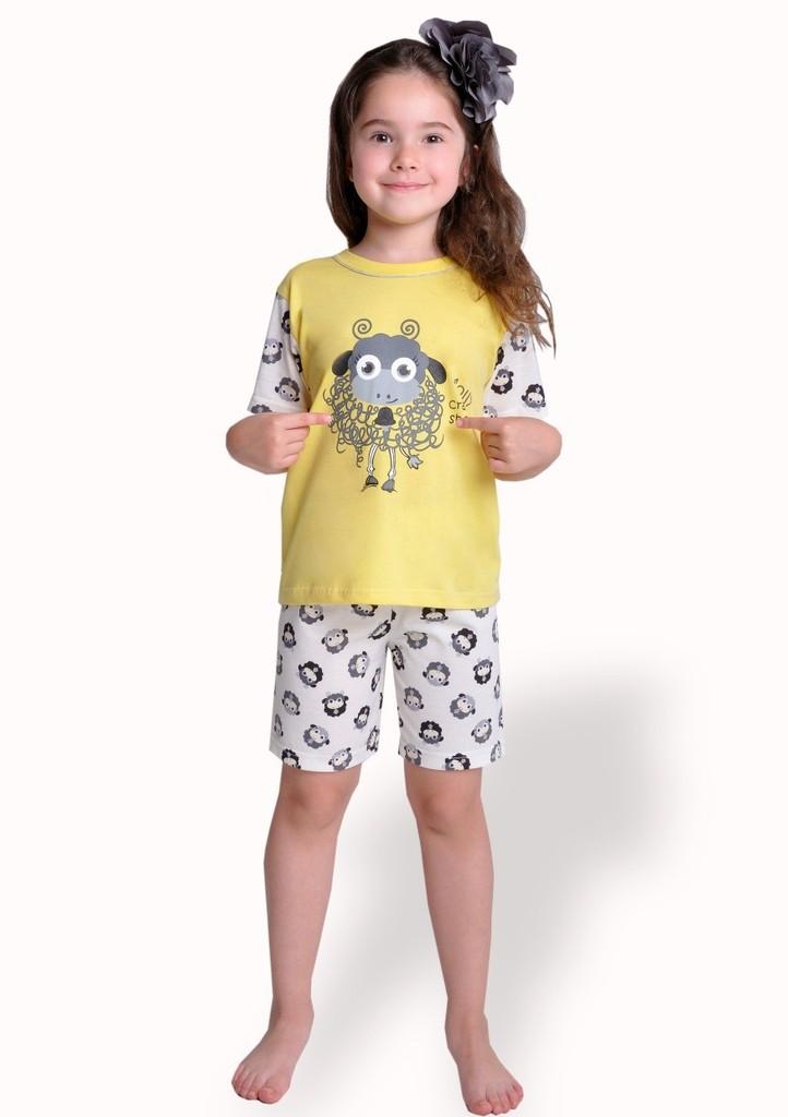 Dětské pyžamo s obrázkem ovečky a kraťasy