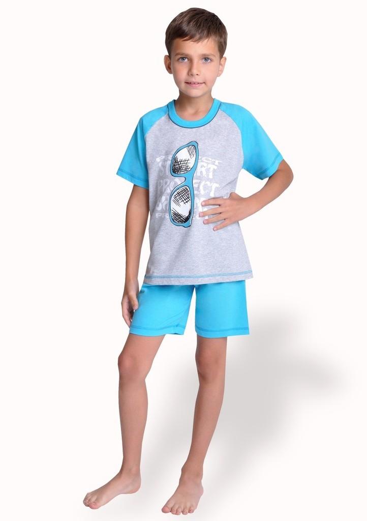 Dětské pyžamo s obrázkem brýlí a kraťasy