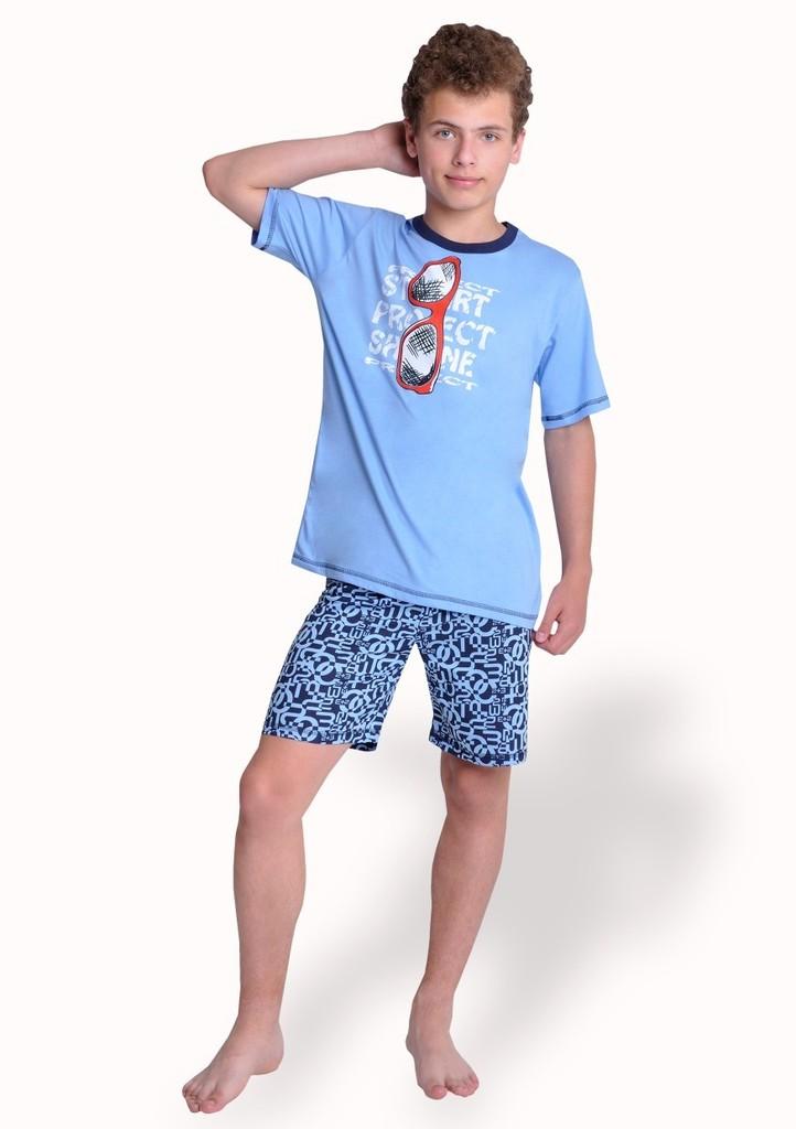 Chlapecké pyžamo s obrázkem brýlí a kraťasy