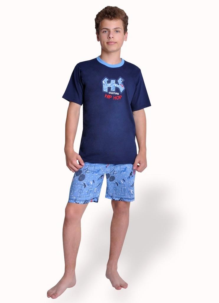 Chlapecké pyžamo s nápisem Hip hop a kraťasy