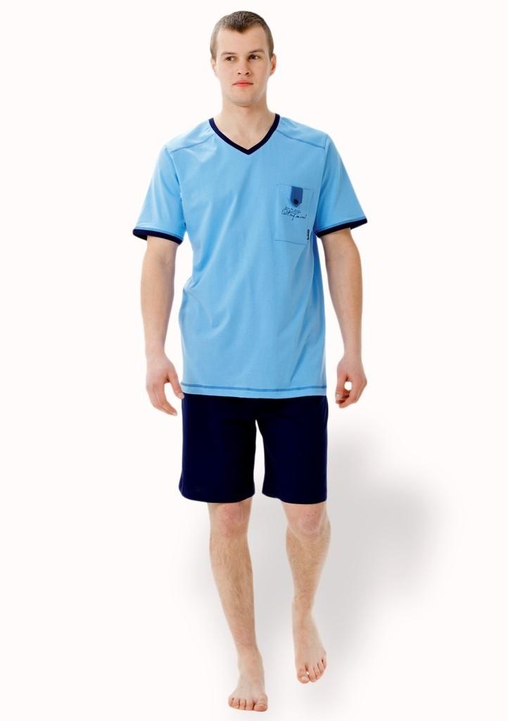 Pánské pyžamo s kapsou a kraťasy
