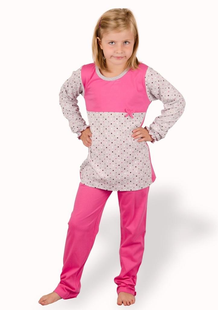 Dětské pyžamo se vzorem puntiku