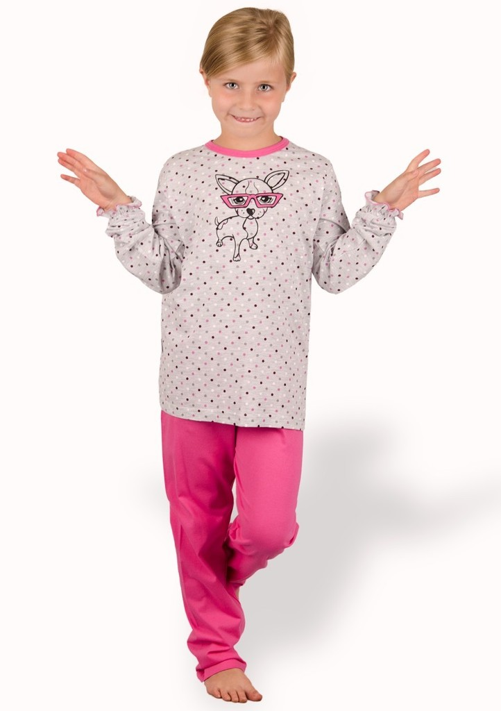 Dětské pyžamo s obrázkem psa s brýlemi