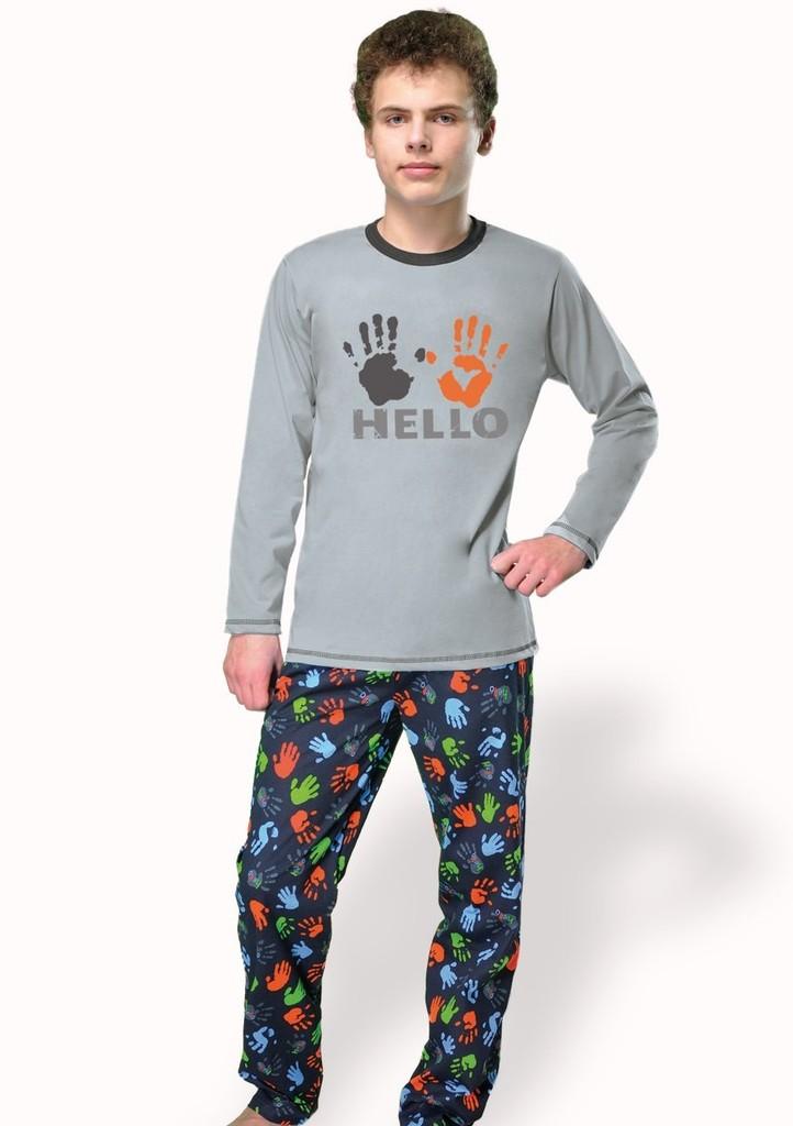 Chlapecké pyžamo s nápisem Hello