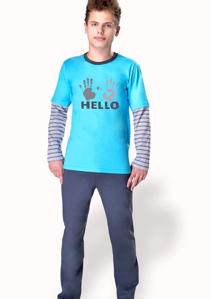 Chlapecké pyžamo s obrázkem otisku rukou