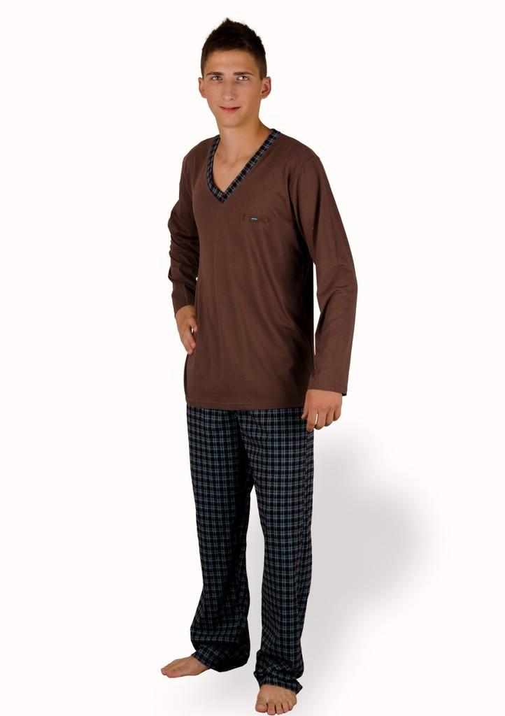 Pánské pyžamo s kalhotami se vzorem kostky