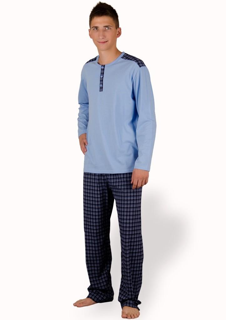 Pánské pyžamo s kalhotami se vzorem kostičky