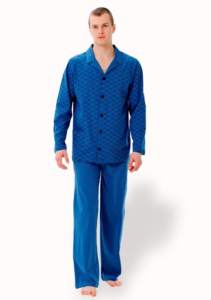 Pánské propínací pyžamo s kapsou