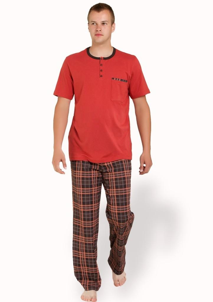 Pánské pyžamo s kalhotami se vzorem barevné kostky II