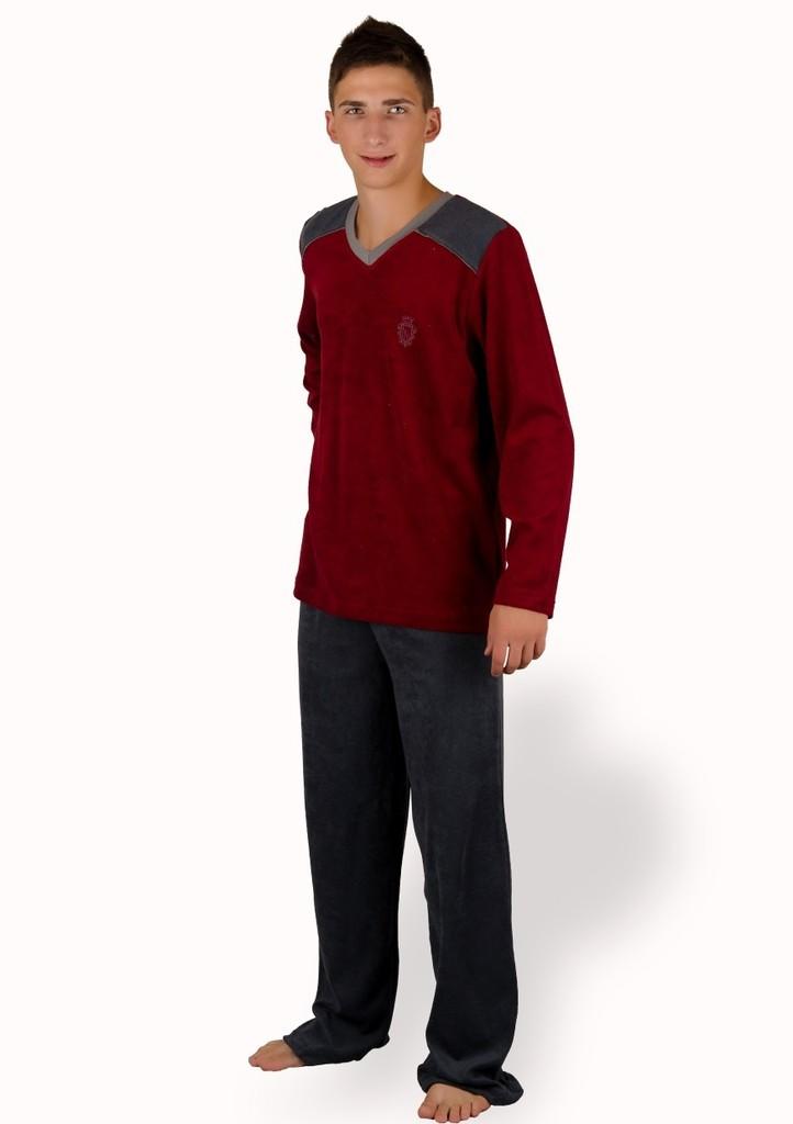 Pánské frote pyžamo s výšivkou erbu