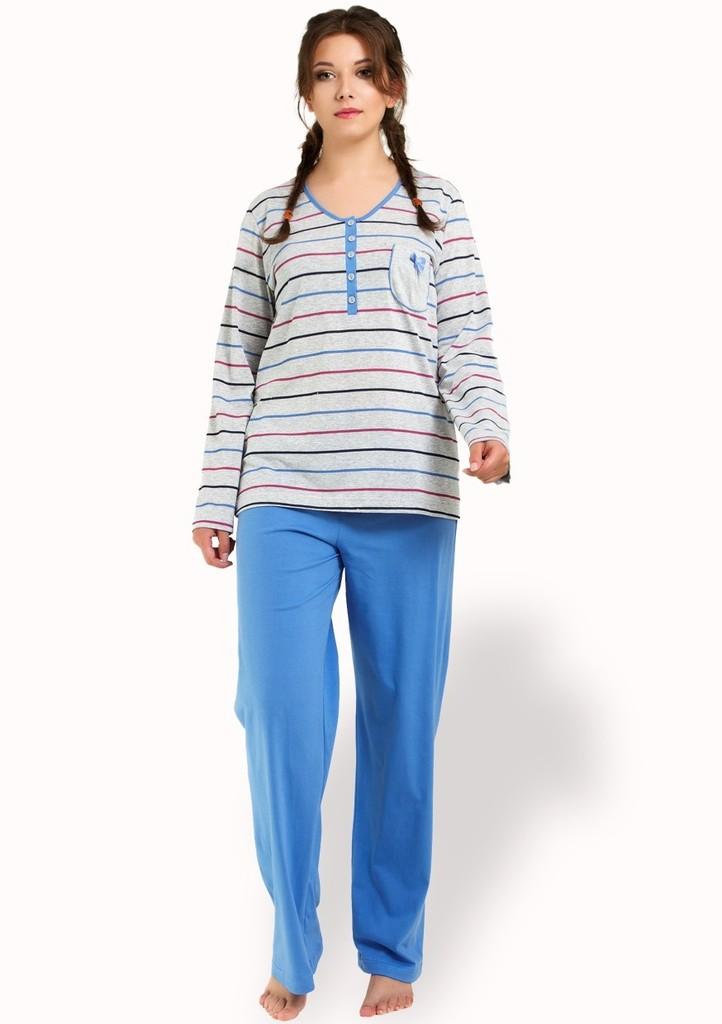 Dámské pyžamo se vzorem barevného proužku