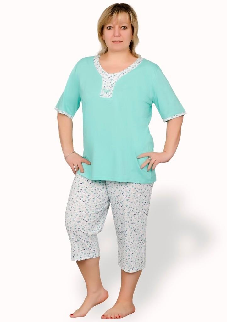 Dámské pyžamo nadměrné velikosti vzor květy