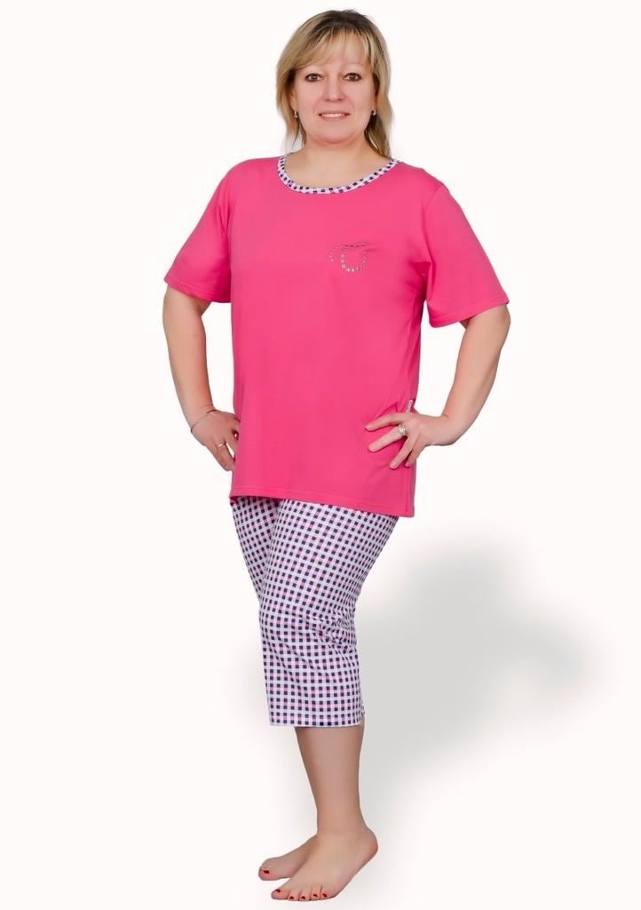 Dámské pyžamo nadměrné velikosti se vzorem kostky