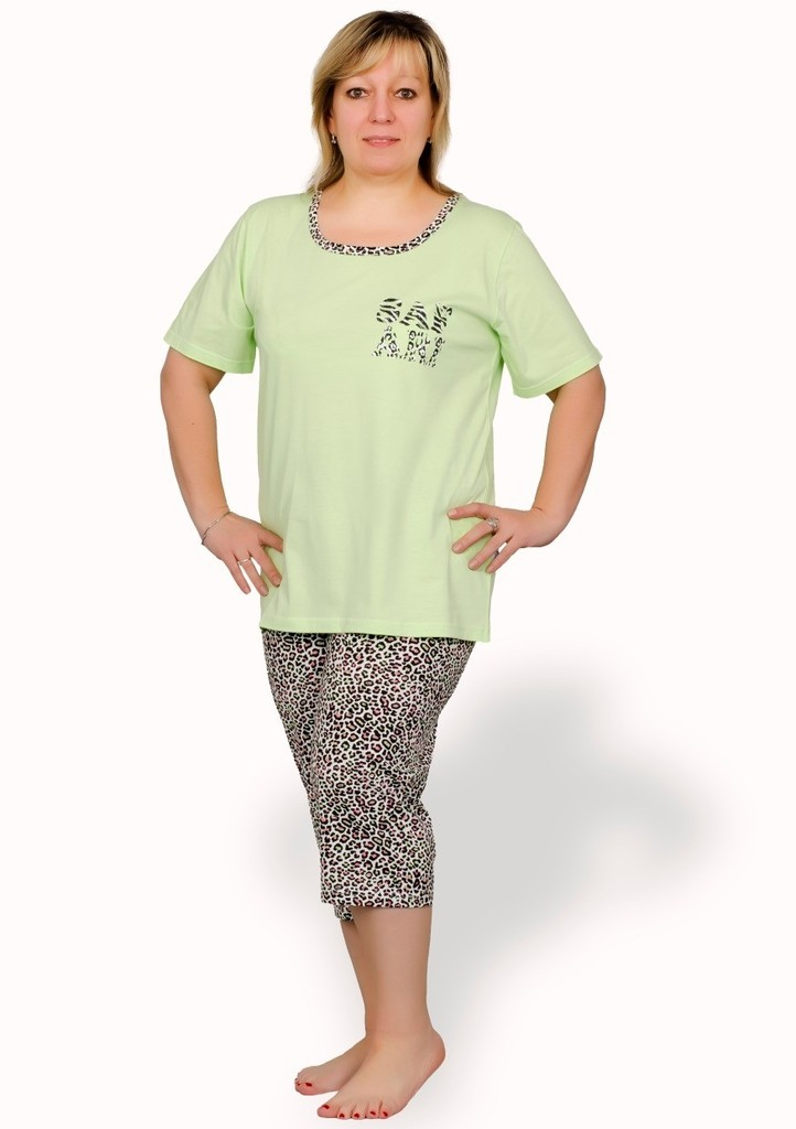 Dámské pyžamo nadměrné velikosti vzor safari