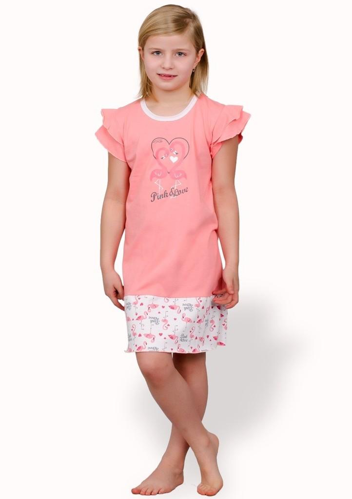 Dětská noční košile s obrázkem plameňáků
