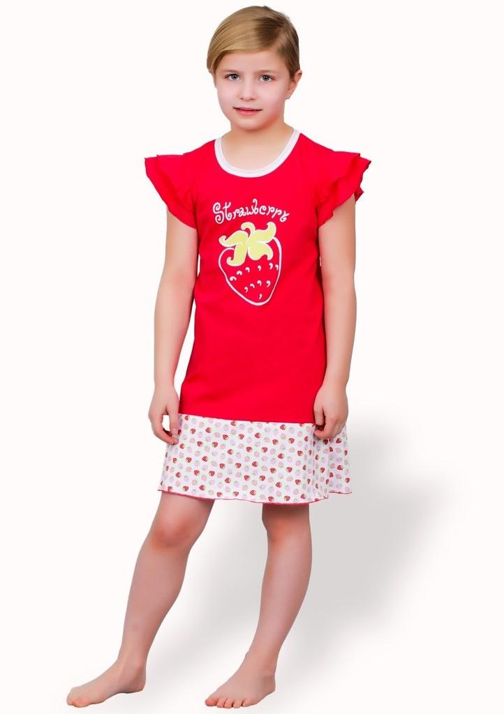 Dětská noční košile s obrázkem jahody