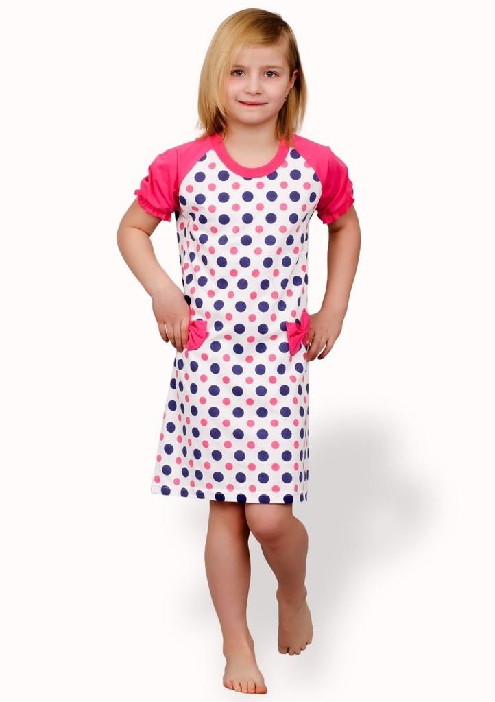 Dětská noční košile se vzorem puntiku